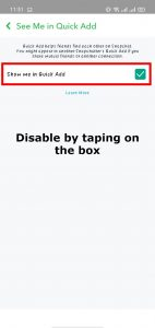 disable by taping on the box