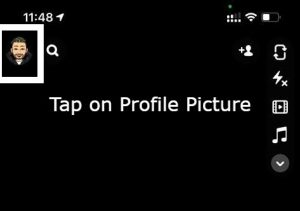 tap on profile picture